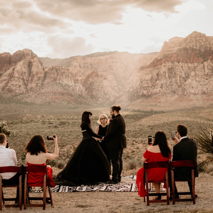 Las Vegas Wedding Officiant - Red Rock French couple